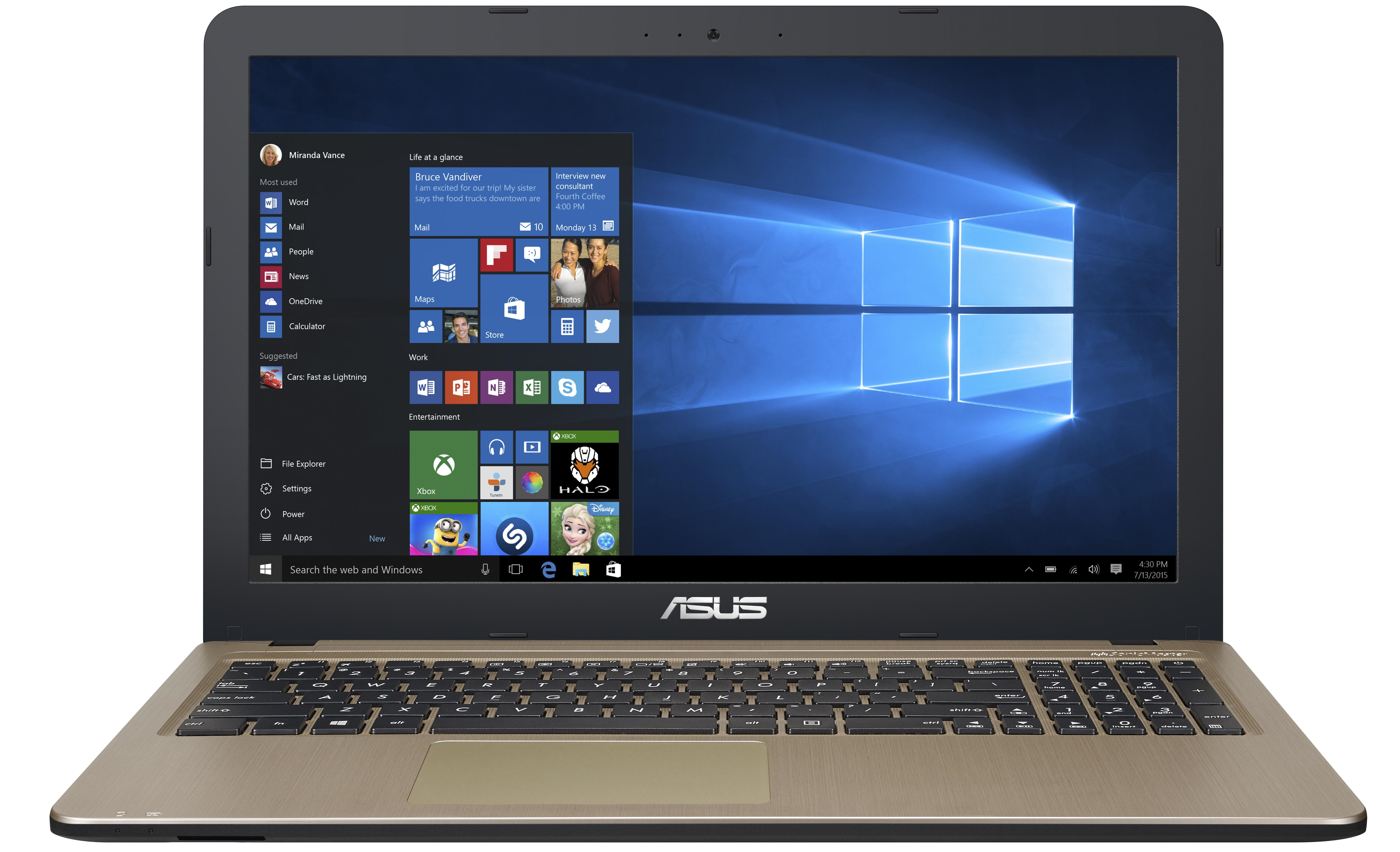 Ноутбук Asus X540UV (i7-7500U,1Tb,8Gb,920MX,2Gb,Win10) 15.6""