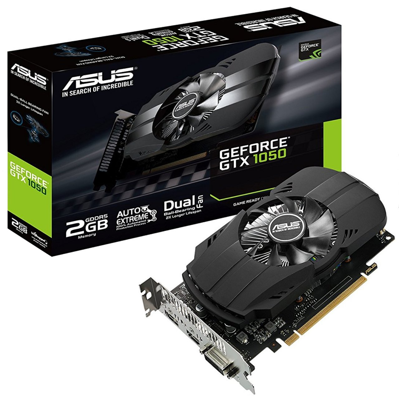 Видеокарта GeForce GTX1050 2048Mb DDR5 (Asus) (PH-GTX1050-2G) box