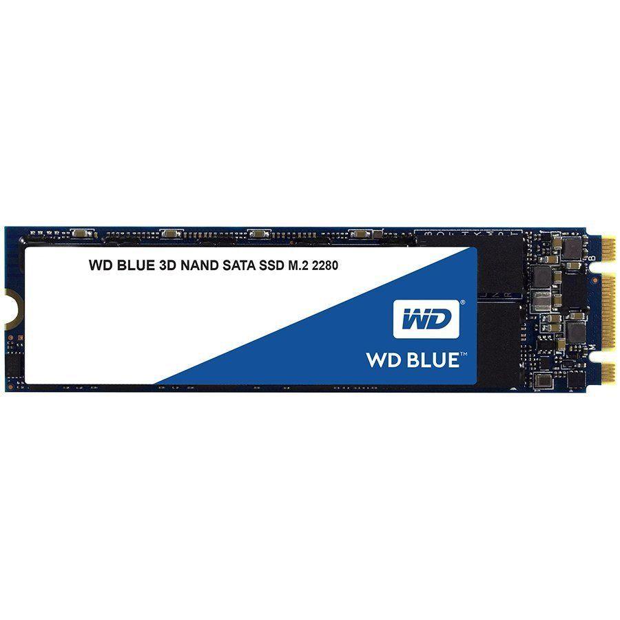HDD SSD 500GB SSD WD WDS500G2B0B BLUE 3D NAND M.2 2280 SATA3 R560Mb/s, W530MB/s