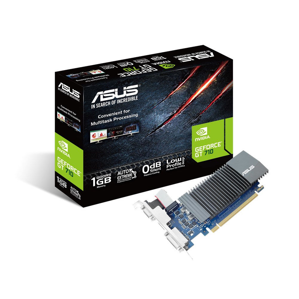 Видеокарта GeForce GT710 1Gb DDR5 (Asus) (GT710-SL-1GD5-BRK) box