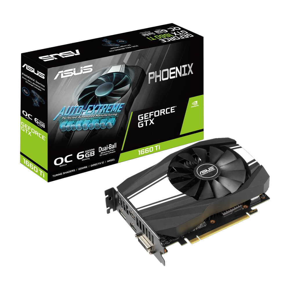 Видеокарта GeForce GTX1660Ti 6Gb DDR6 (Asus) (PH-GTX1660Ti-06G) box
