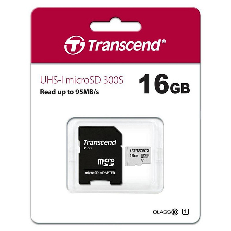 Flash SECURE DIGITAL 16Gb Micro (Transcend) TS16GUSD300S-A