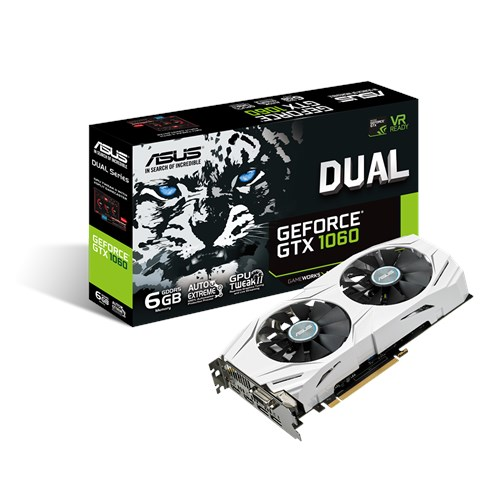 Видеокарта GeForce GTX1060 6Gb DDR5 (Asus) (DUAL-GTX1060-6G) box