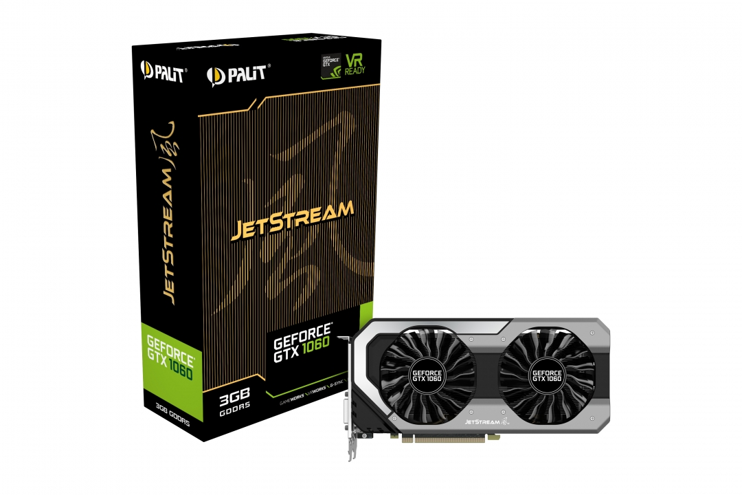 Видеокарта GeForce GTX1060 3Gb GDDR5 (Palit) (NE51060015F9-1060J) box