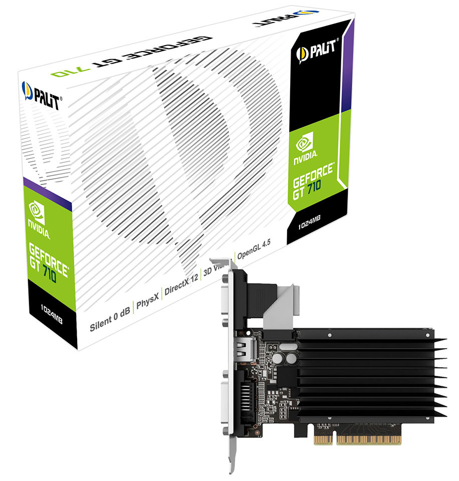 Видеокарта GeForce GT710 2Gb GDDR3 (Palit) (NEAT7100HD46-2080H)