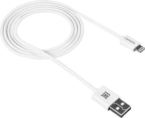 Кабель Lightning to USB CNE-CFI1W (Canyon)